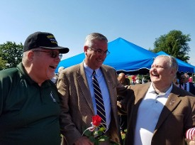 Gordon Smith, Gov Eric Holcomb & Don Hawkins