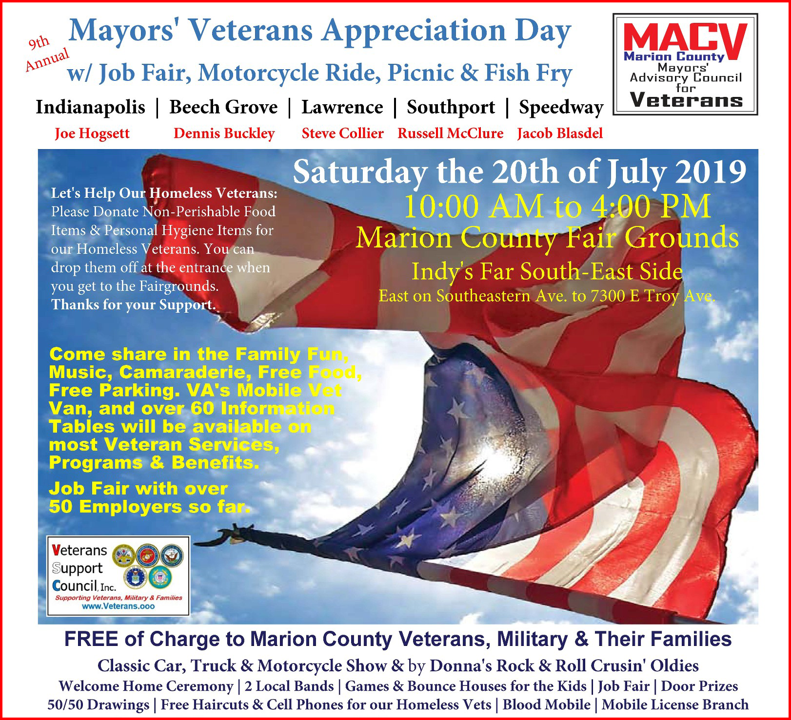 Click on Picture to Download the Mayors' Veterans Appreciation Day Flyer