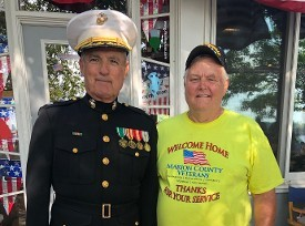 Lt Col Mike Crowell & Don Hawkins at the Operation Set Sail event