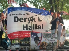 Speration Set Sail honoring PFC Deryk L Hallal family
